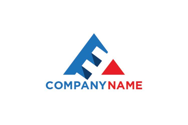 Letter E triangle logo example image 1