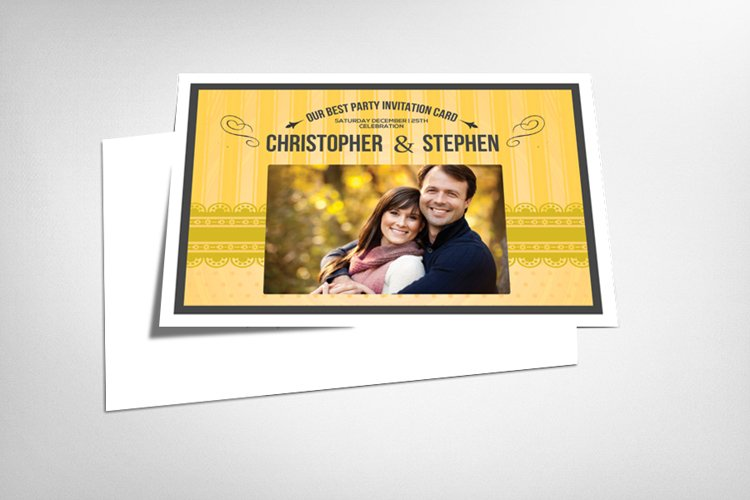 Save the Date Invitation Card Template example image 1