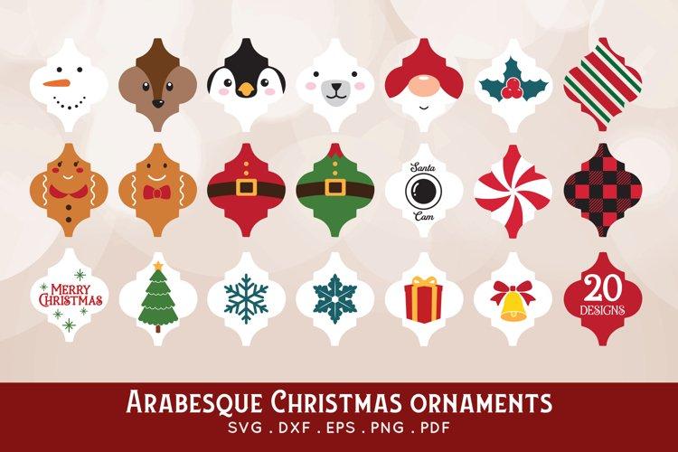 Arabesque Christmas Ornament svg bundle - dxf png jpg eps