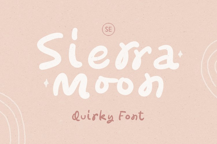 Sierra Moon - Quirky Font example image 1