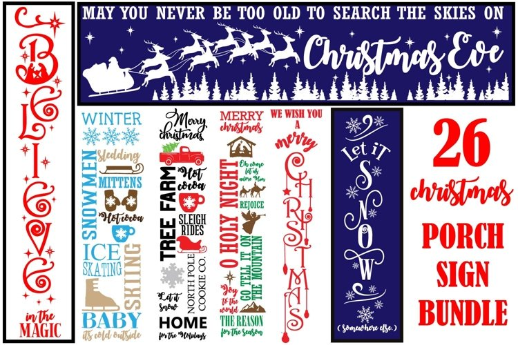 Christmas porch Sign Quotes Bundle svg, Christmas porch sign