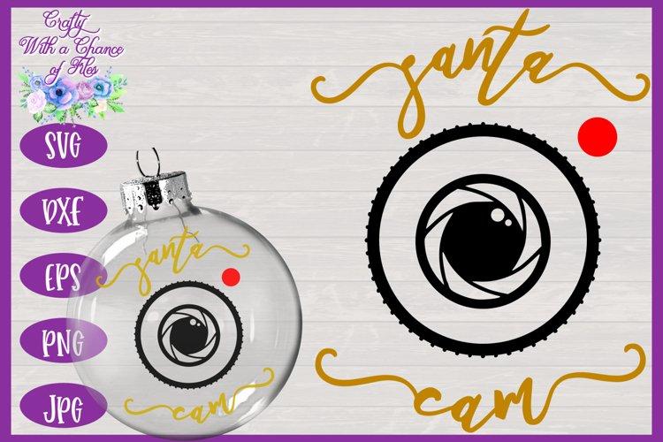 Santa Cam SVG | Christmas SVG | Ornament SVG | Bauble SVG