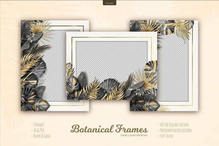 Botanical Tropical Leaves Frames