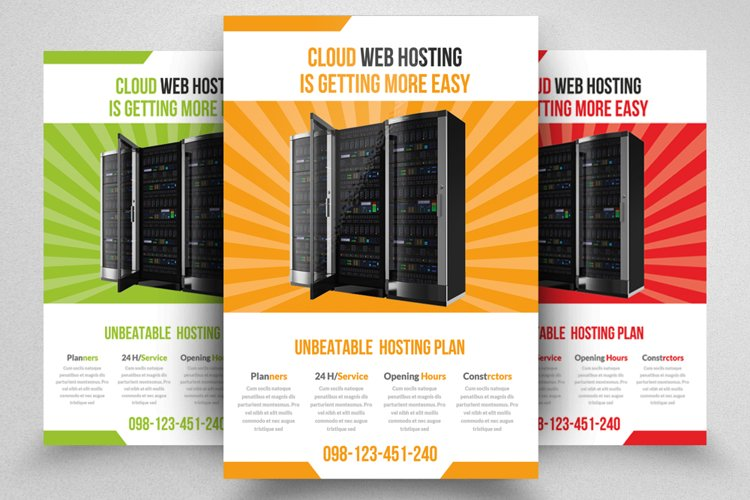 Web Hosting Flyer Template example image 1