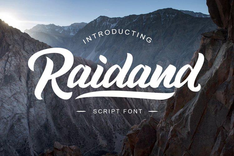 Raidand Script Font example image 1