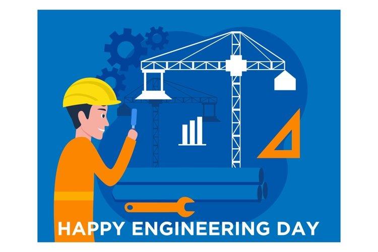 Flat design of Engineers day celebration example image 1
