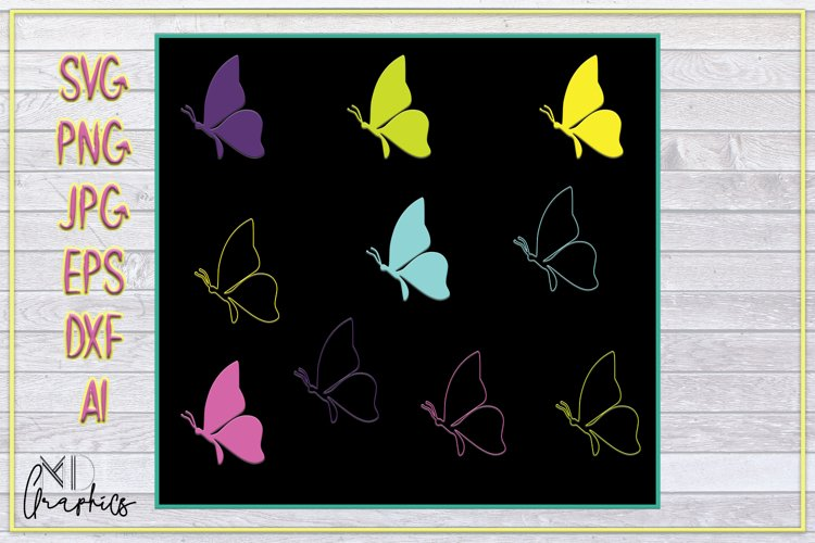 Butterflies Images for cricut, SVG printable DOWNLOAD, PRINT example image 1