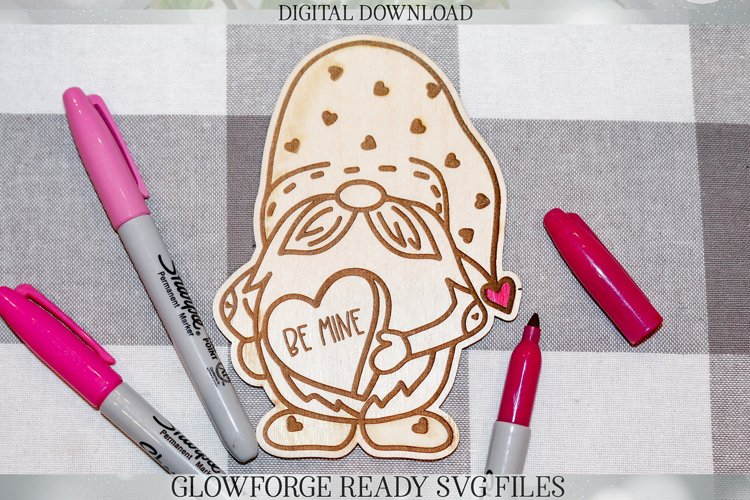 Glowforge Valentine's Day Gnome DIY Valentine Gift example image 1
