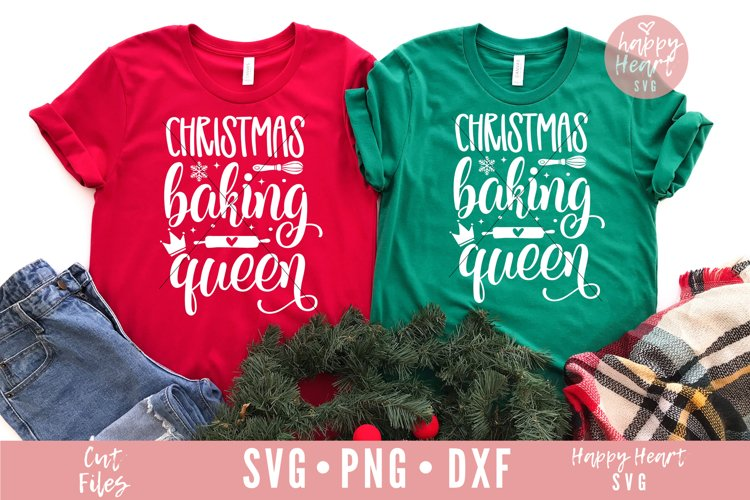 Christmas Baking Queen SVG example image 1