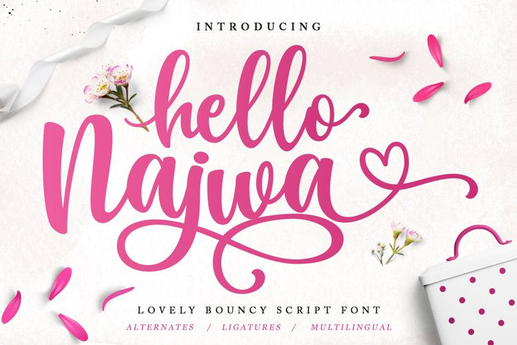 Lovely Script Font - Hello Najwa example image 1