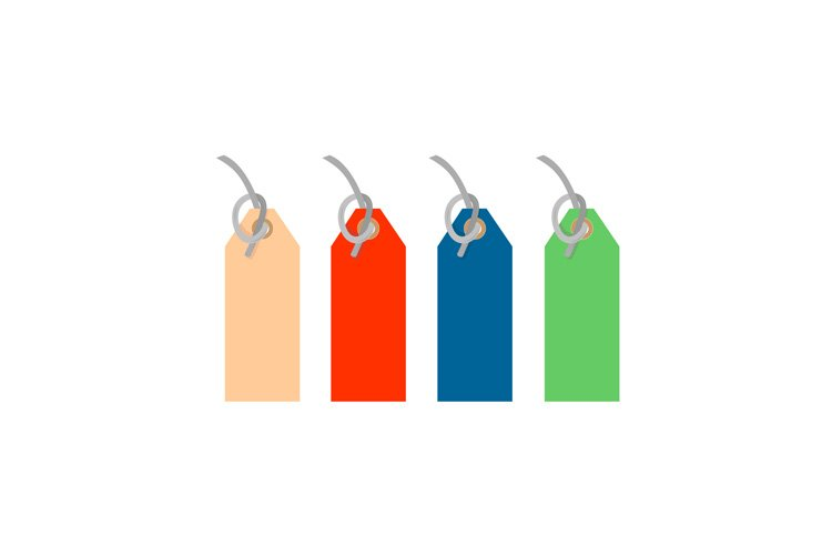colored tags with strings tied example image 1