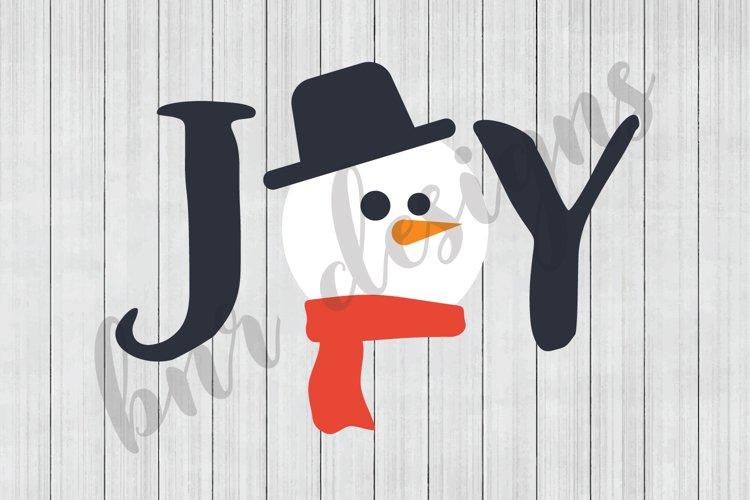 Christmas SVG, Joy SVG, Snowman SVG, SVG Files, DXF Files example image 1