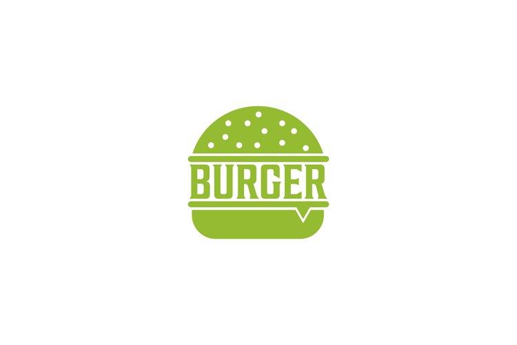 Burger logo design template premium example image 1