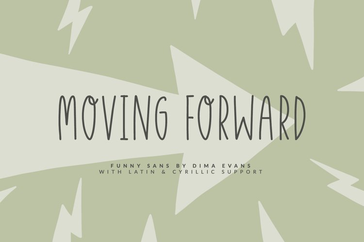 Moving Forward Funny Sans example image 1