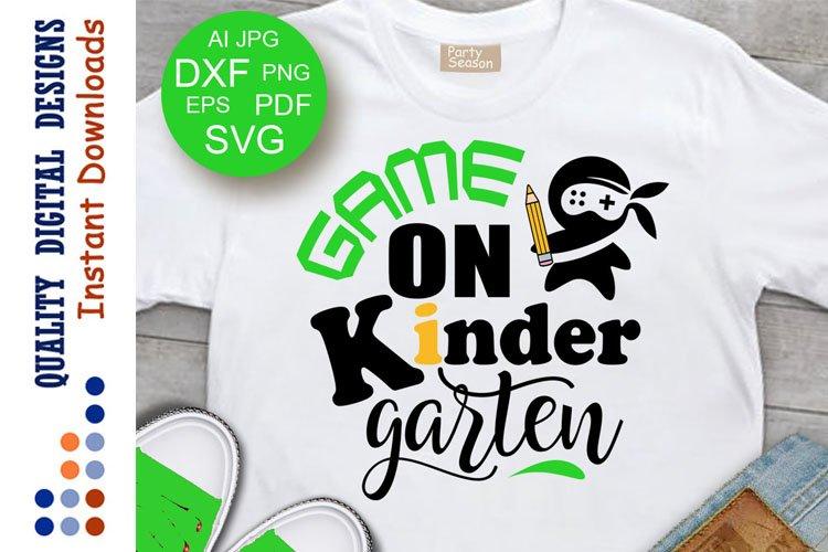 Kindergarten shirt design svg School Clipart Cricut Vinyl example image 1