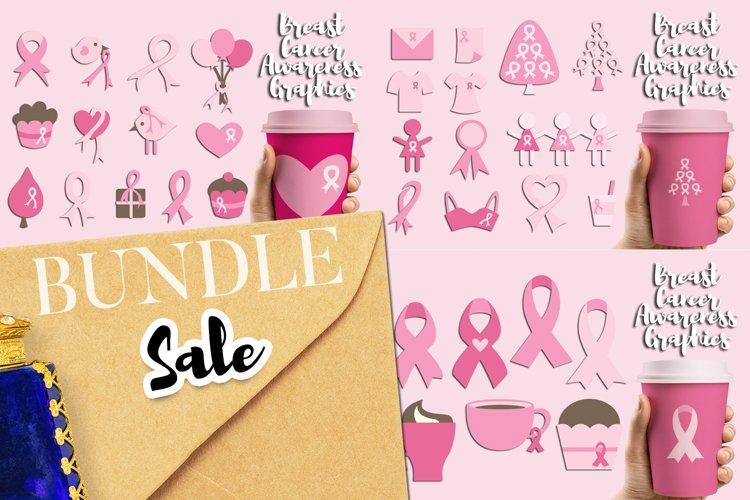 Breast cancer awareness illustrations bundle