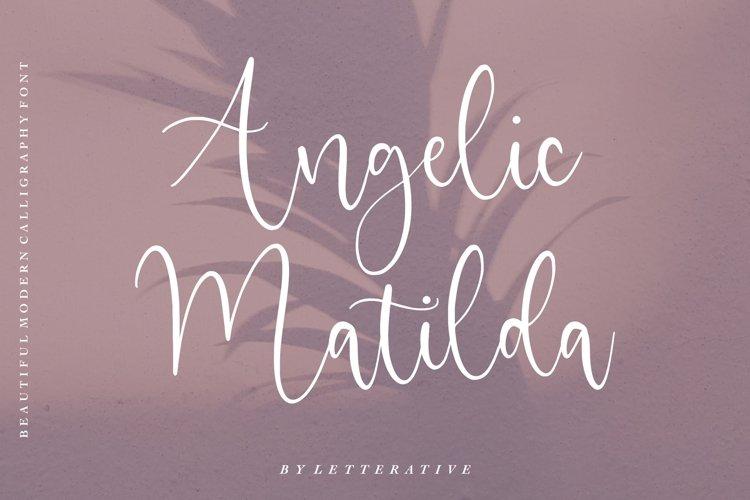 Angelic Matilda Beautiful Modern Calligraphy Font example image 1