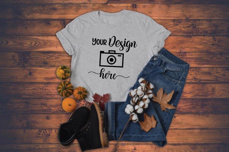 Fall T-shirt Mockup Bella Canvas example image 1