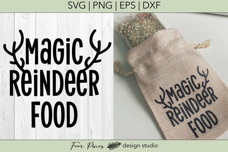 Magic Reindeer Food Cut File