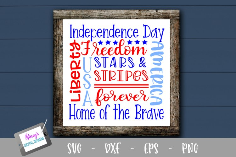 Patriotic Subway Art SVG - 4th of July Subway Art