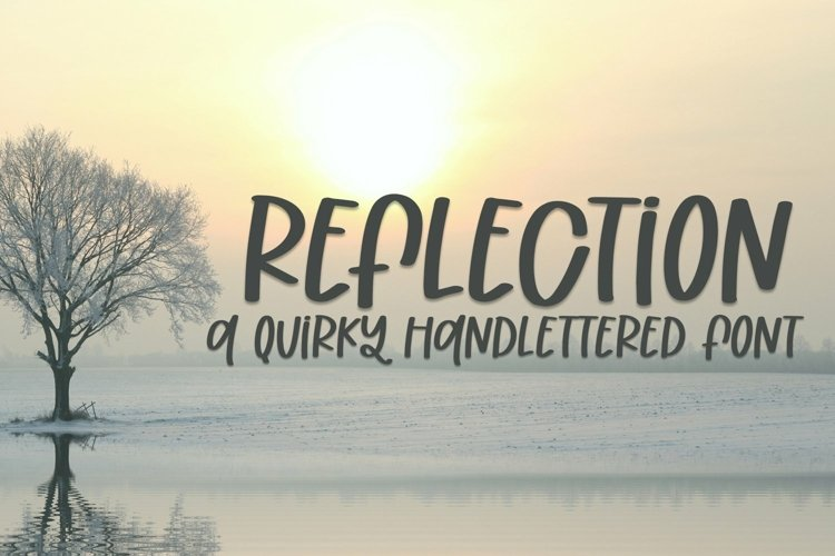 Web Font Reflection - A Quirky Handlettered Font example image 1