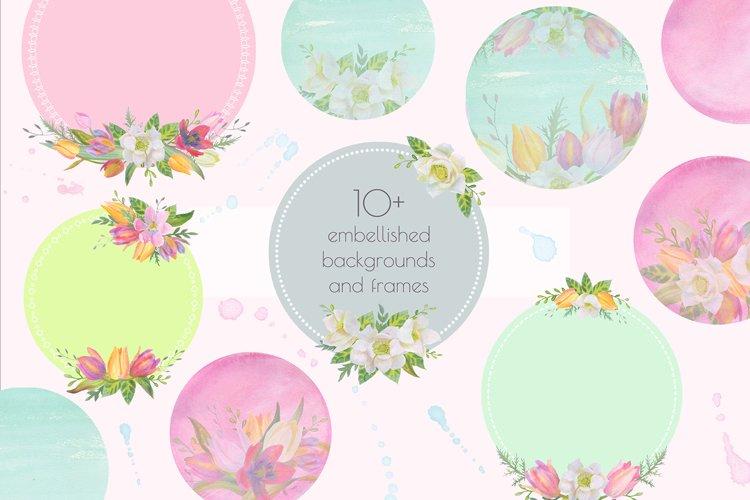 Floral Design Pack (watercolor & pastel) - Free Design of The Week Design2