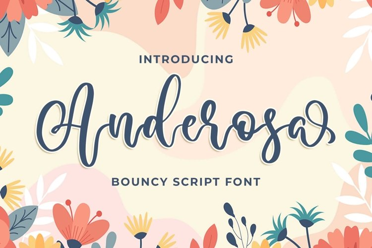 Anderosa - a Bouncy Script Font example image 1