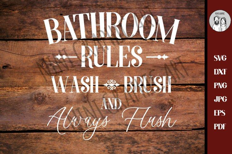 Bathroom SVG - Bath SVG - Rules Svg - Farmhouse Svg - example image 1
