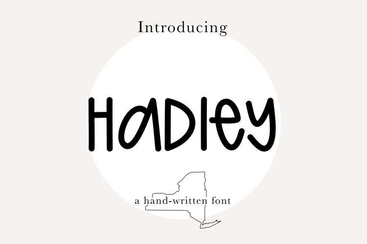 HADLEY FONT- Cute, Quirky, Mixed Capital, Handwritten Font