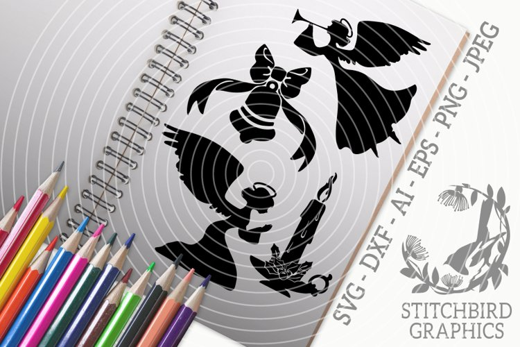 Christmas Icons 2 Bundle SVG, Silhouette Studio, Cricut, Eps