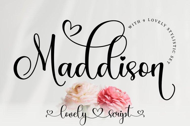 Maddison Lovely Script example image 1