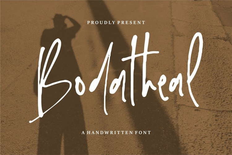 Web Font Bodatheal - A Handwritten Font example image 1
