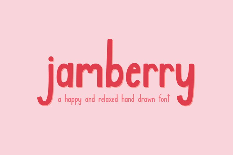 Jamberry Font example