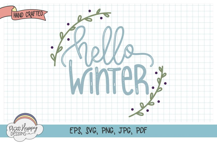 Hello Winter - Hand Lettered Christmas SVG