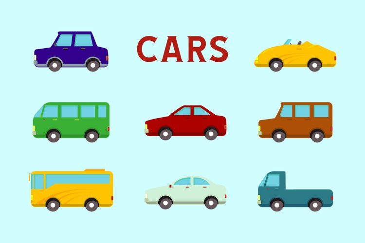 flat design vector car icon