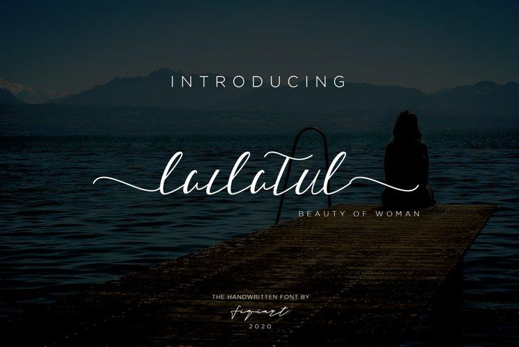 Lailatul Font Signature example image 1