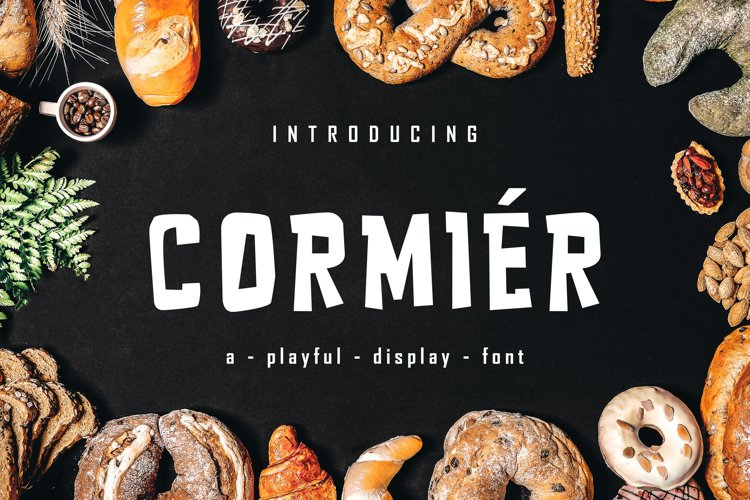 CORMIER - Playfull Display Font example image 1