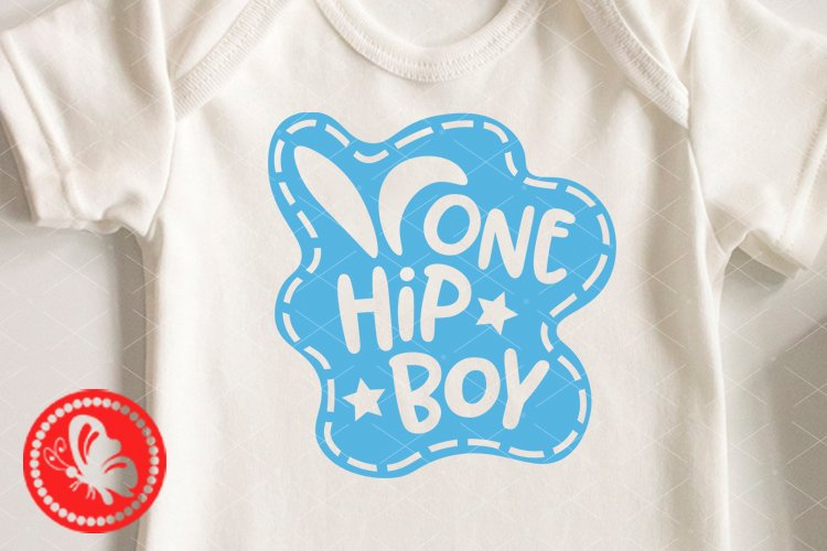 One hip boy shirt design Easter decor svg Baby boy gift png example image 1