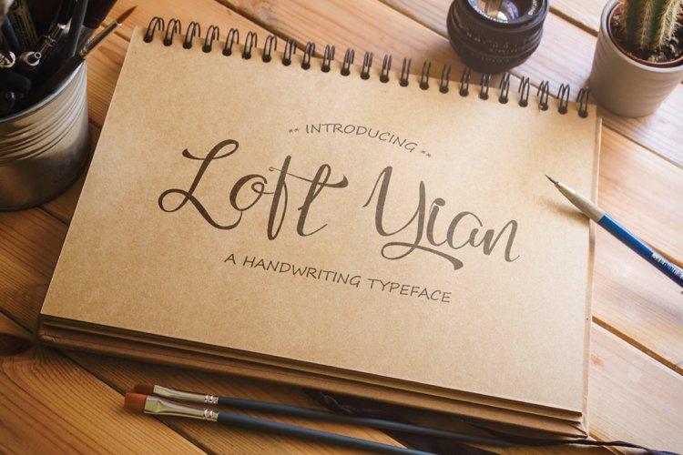 Loft Yian Script Lite Font