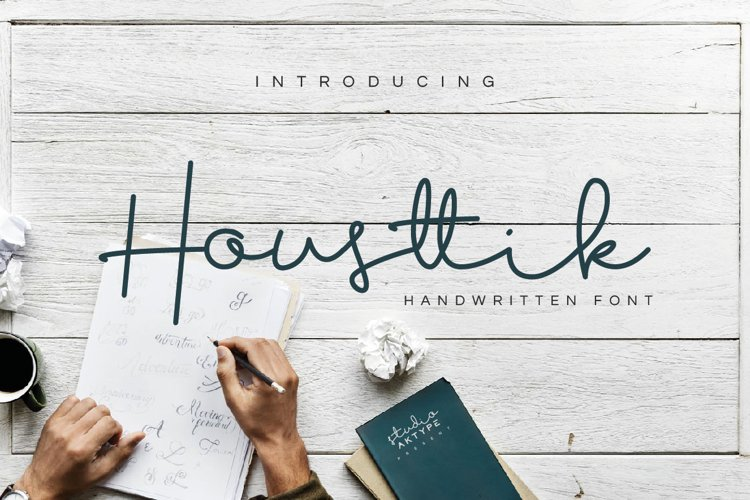 Housttik Handwritten Script