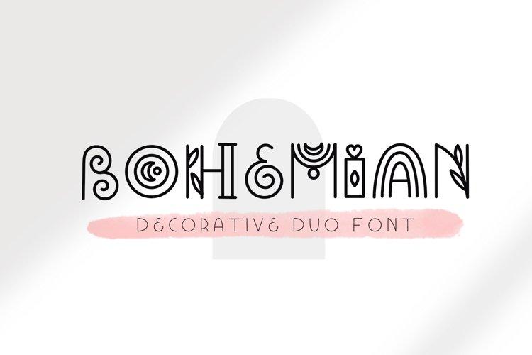 Bohemian - Decorative font duo example image 1