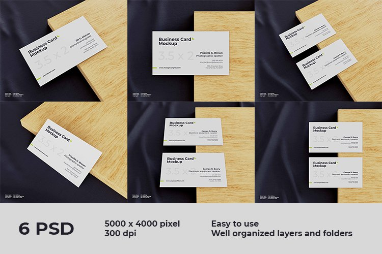 Elegant business card mockup example image 1