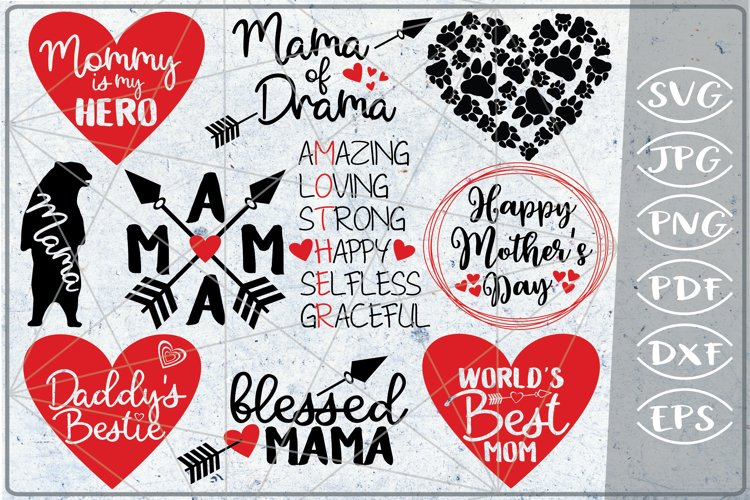 Mother's Day Bundle 10 SVG Cutting Files Happy Mother's Day example image 1