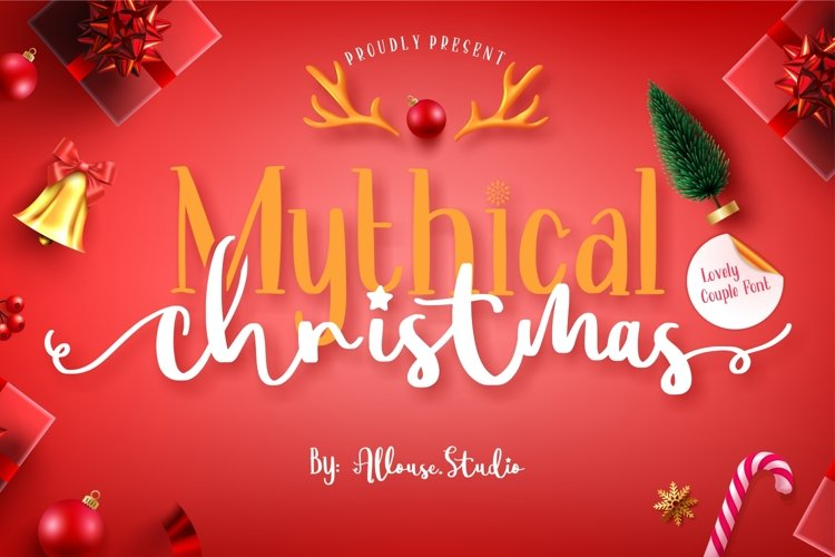 Mythical Christmas - Lovely Couple Font example image 1