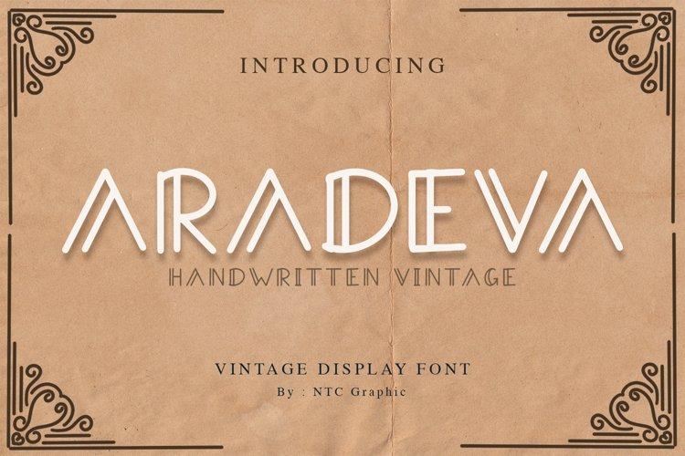 Aradeva Vintage Display Font example image 1