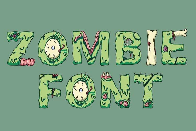 Zombie font. Halloween font. Horror font. Creepy spooky font