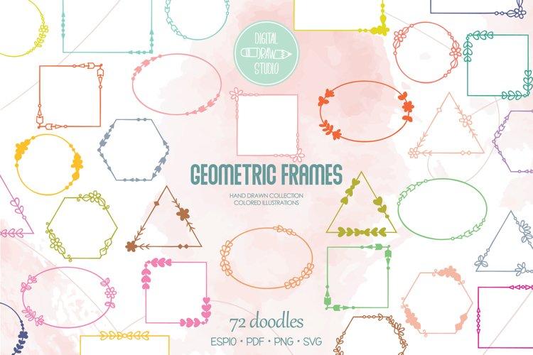 Download Geometric Frame Color Decorative Border Floral Wreath 1051757 Illustrations Design Bundles
