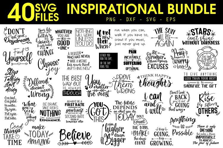 Inspirational Quotes SVG Bundle, Motivational Quotes SVG