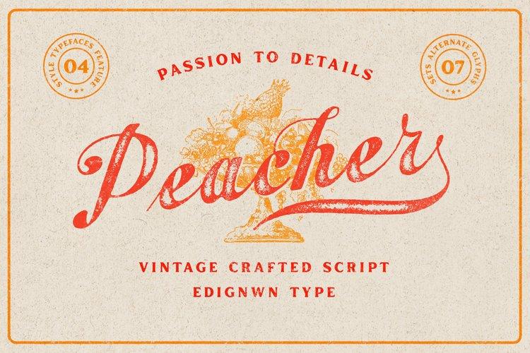 Peacher - Vintage Script Font