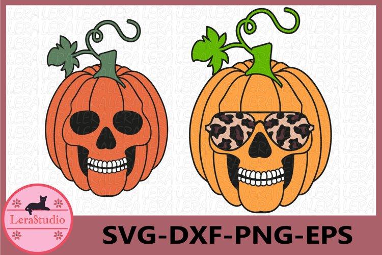 Skull Pumpkin Svg, Halloween Svg, Fall Svg, Thanksgiving Svg example image 1